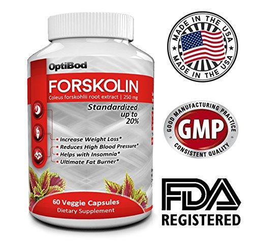 Forskoline Appétit-Fat Burner-Pure Forskohlii Weight Loss Formula-Boost métabolisme-Preserve Muscle - standardisé 20% - 250 mg par capsule - Rendements 50mg forskoline active - meilleure qualité disponible - All Natural - dosage approprié pour des résulta