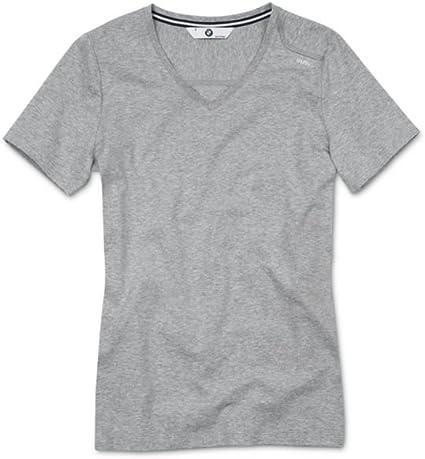 BMW Camiseta de Manga Corta para Mujer Small Grigio Melange: Amazon.es: Coche y moto