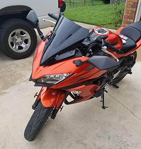 Black GZYF ABS Motorcycle Double Bubble Windshield Windscreen Fits Kawasaki NINJA 1000 Z1000SX 2011-2016