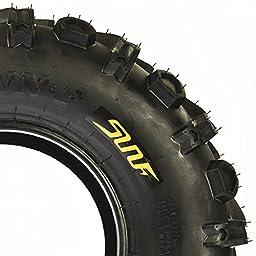 Set Pair of 2 SunF 24x8-12 24x8x12 All Terrain Mud ATV UTV Sport Tires 6 PR A041