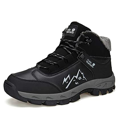 2c4d2ef5e6c4 Zaqxs Mens Hiking Boots Outdoor Trekking Backpacking Boot Mid Hiker Boot  Work Boots Waterproof Leather Winter
