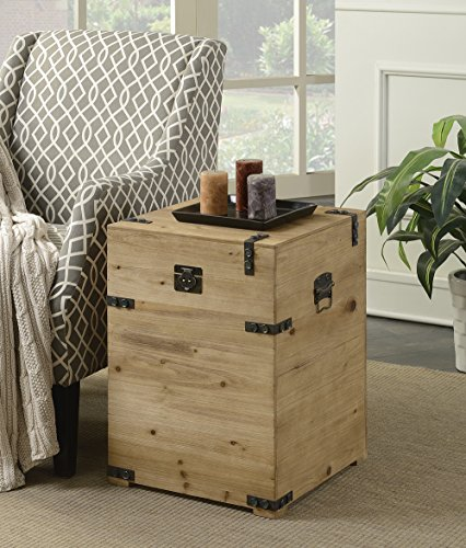 Convenience Concepts Laredo Trunk End Table, Natural
