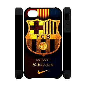 Retro FC Barcelona Apple Iphone 4S/4 Case Cover Dual Protective Polymer Cases Futbol Club Barce