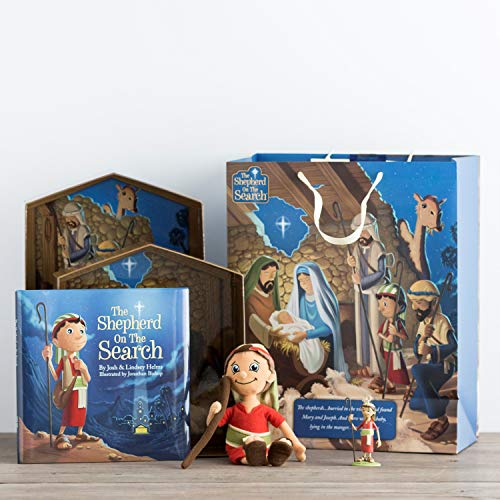 (Dayspring The Shepherd On The Search - Advent Activity Set, Ornament & Extra Large Gift Bag Set)