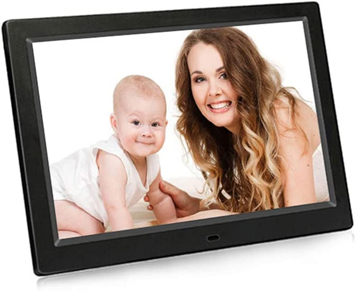 USB Port and SD Card Slot and Remote Control 10.1 Widescreen Digital Photo Frame Black with 1024x600 IPS Display