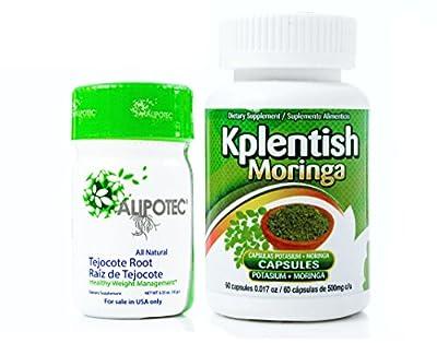 Alipotec Root Raiz de Tejocote 90 Day Supply and 30 Day KPlentish Moringa Potassium Supplement 2 Product Pack