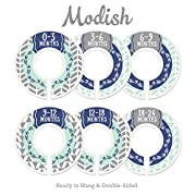 Modish Labels Baby Nursery Closet Dividers, Closet Organizers, Nursery Decor, Baby Boy, Woodland, Arrow, Tribal, Navy Blue, Mint, Grey