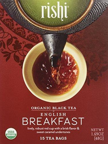 Rishi Tea - Organic English Breakfast, 15 tea bags (Pack of 2)