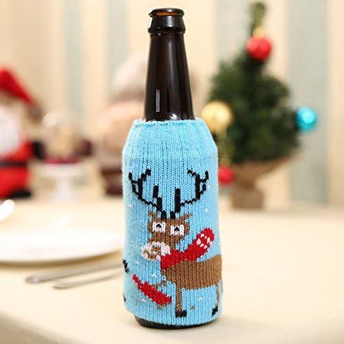 Auntwhale Conjunto de Botellas de Vino de Navidad, Copo de Nieve ...