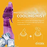 O2COOL Deluxe Misting Purple Personal Fan, Universal