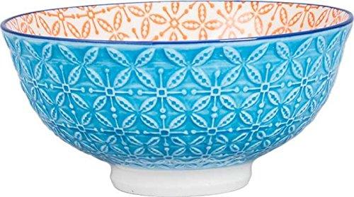 Ooh La La Aster Bowl Orange Turquoise 440402 - Bleu Rim Soup