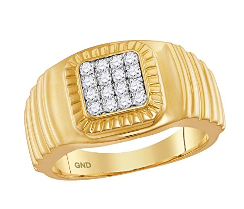 Diamond 10kt Yellow Accent Ring - 3