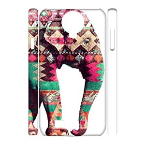 Custom New Case for SamSung Galaxy S4 I9500 3D, Colored Elephant Phone Case - HL-698539