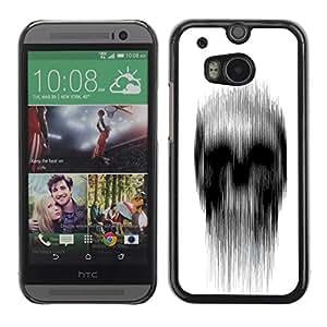 Be Good Phone Accessory // Dura Cáscara cubierta Protectora Caso Carcasa Funda de Protección para HTC One M8 // White Black Rain Deep Dark Meaning