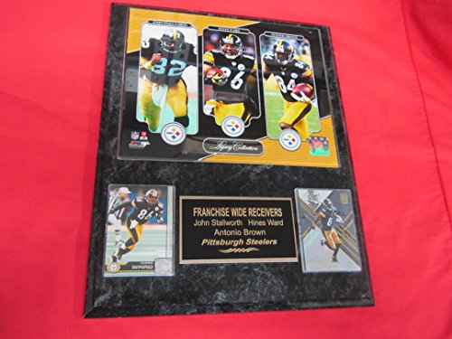 Antonio Brown Hines Ward John Stallworth Pittsburgh Steelers 2 Card Collector Plaque w/8x10 LEGACY COLLECTION Photo