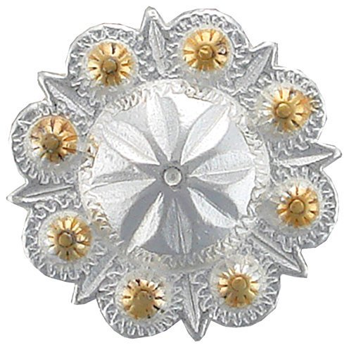 BS9184-SPGP Berry Concho Polished Silver and Gold 10pcs
