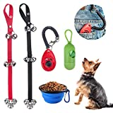 Beinhome Dog Training Bells for Door, Set of 2 Adjustable Puppy Bell for Potty Training, Dog Doorbell with Collapsible Travel Pet Cat Dog Bowl & Training Clicker & Waste Bag Dispenser Review
