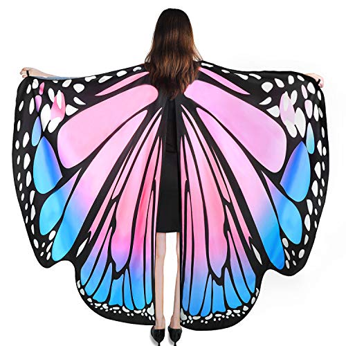 Cute Girl Group Costumes For Halloween (YXwin Womens Halloween Costumes Adult Butterfly Wings Pink Blue Cute Costume for)