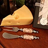 Arte Murano Glass Handled Cheese Knife Spreader and Fork Set - 36 Sets