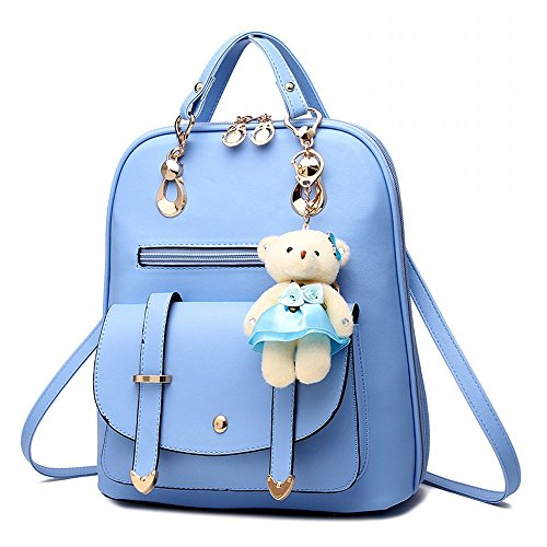 MSXUAN Fashion PU Leather Backpack Shoulder Bag Rucksack Travel (Fashion Pu Shoulder Bag)