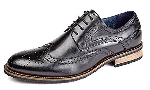 Brogue Hommes Noir Chaussure En Doublure Cravate 4 Cuir Œillet Avec 44WrqPZf
