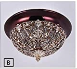 Bedroom ceiling light gold entrance, aisle door lobby zinc alloy carved ceiling iron hollow ceiling lamps ZA82112 ( Color : B , Size : D35cm )