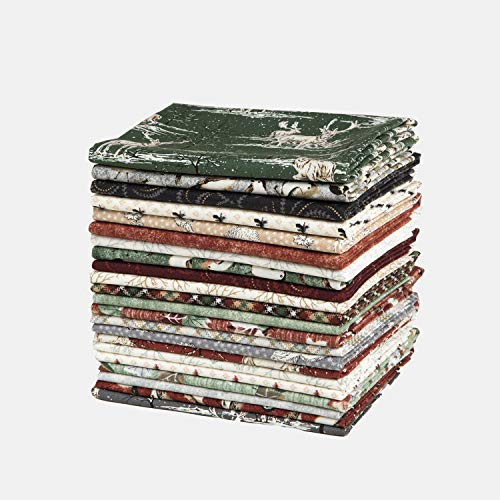 Connecting Threads Print Collection Precut Quilting Fabric Bundle Fat Quarters (Woodland)