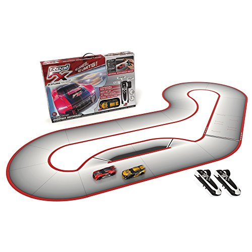 Real FX Racing Slotless Racetrack System including two RC Cars and Handsets with Artificial Intelligence