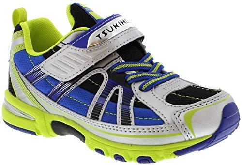 Footwear Lime - TSUKIHOSHI Kids Boy's Storm (Little Kid/Big Kid) Silver/Lime Sneaker