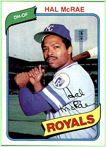 - 1980 Topps #185 Hal McRae KANSAS CITY ROYALS NRMT-MINT