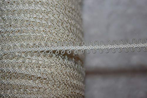 Designer Fabric - 5 Yards Cream Sewing Craft Upholstery Braid gimp Loop Trim 3/8 Wide ws5 - Clothing & Fashion Apparel Trimmings