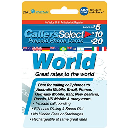Callers Select World Prepaid Phone Card For Long Distance Calling by Callers Select World