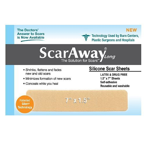 ScarAway 1.5in X 7in Fabric-Backed Silicone Scar Sheets 1...