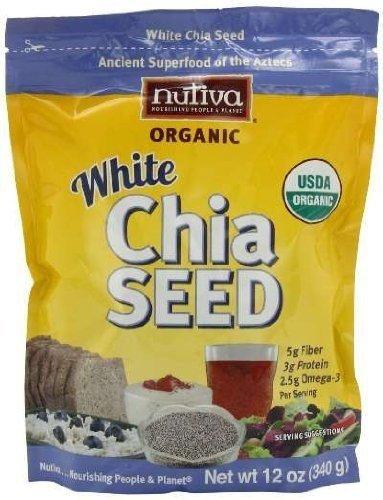 Nutiva Kosher Organic White Chia Seed 12 OZ ( Multi-Pack)