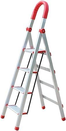 GYL XSJZ Escaleras telescópicas Escalera de Aluminio, Escalera de Ingeniería Multifuncional Plegable con Marco A, Utilizada En Biblioteca, Almacén Escalera Plegable (Size : 3-Step Ladder): Amazon.es: Hogar