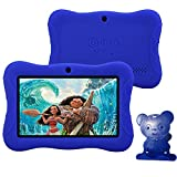 Contixo Kids Safe 7'' Tablet 8GB, Bluetooth, Wi-Fi, Cameras, 20+ Free Games, HD Edition w/ Kids-Place Parental Control, Kid-Proof Case (Dark Blue) - Best Gift