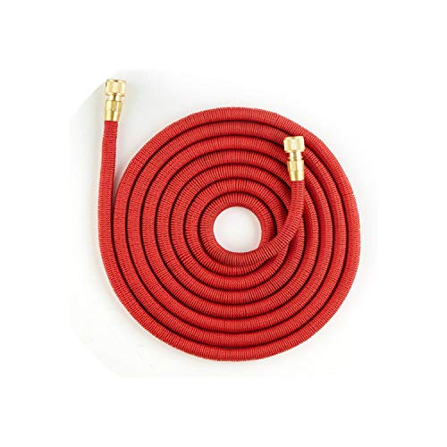 Rewind Ribbon - QianQianStore 25Ft-100Ft Expandable Garden Hose Telescopic Hose High Pressure Car Wash Hose Seamless Ribbon Watering Pipe,100Ft,Red