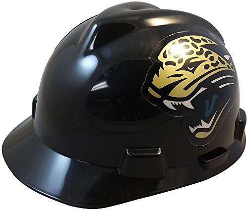 MSA NFL Ratchet Suspension Hardhats - Jacksonville Jaguars Hard Hats