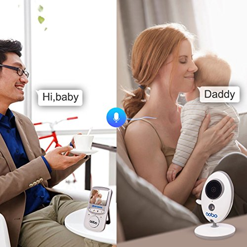 aobo baby monitor 2 4 color lcd two way audio ir night vision baby security nanny camera. Black Bedroom Furniture Sets. Home Design Ideas