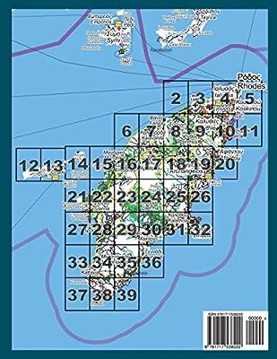 Rhodes Island Greece Map.Rhodes Rodos Complete Topographic Map Atlas 1 40000 With Halki