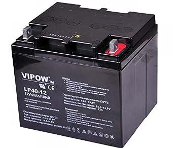 Vipow - Batería de Movilidad 12V 40Ah Bateria de ciclo profundo de gel. Pila recargable. Acumulador: Amazon.es: Bricolaje y herramientas