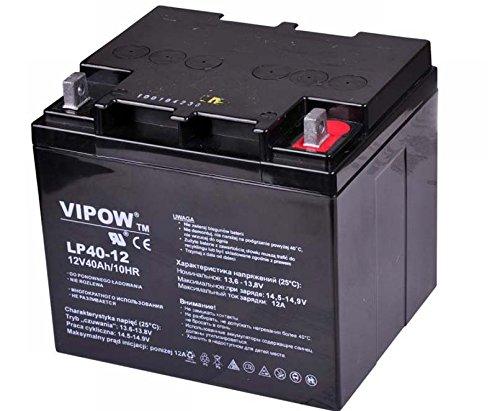 Vipow - Batería de Movilidad 12V 40Ah Bateria de ciclo profundo de gel. Pila recargable. Acumulador