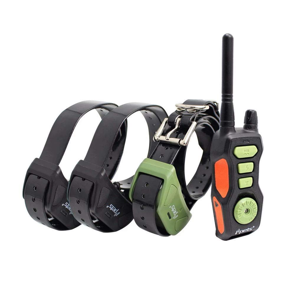 Dog Training Collar 2600ft Remote Range Outdoor IPX6 Waterproof Rechargeable E-Collar with 3 Modes Beep Vibration & Shock for 3 Dogs Simultaniously and All Breeds Camp Activity