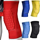 COOLOMG Pad Crash Proof Antislip Basketball Leg Knee Short Sleeve Protector Gear (1 Piece)