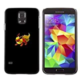 Slim Hard Snap-On Design Case Cover Shell Skin Pouch for Samsung Galaxy S5 - Eevee P0Kemon