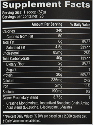 Cellucor Cor Performance 28 Servings Mass Gainer Protein Powder Supplement