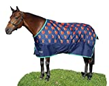 Shires Tempest Original Lite Turnout Rug (63, Navy/Red Apple)