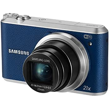 Samsung WB350F - 16.3MP BSI CMOS, 21X Optical Zoom, 3-inch LCD touchscreen, 1080p HD Video, Smart WiFi and NFC Digital Camera - Blue