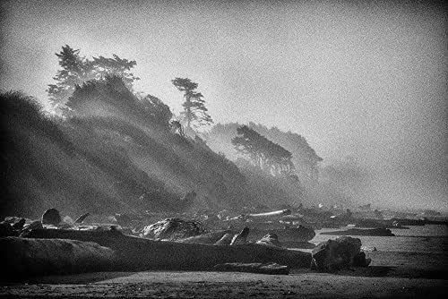 Foggy Beach Print Scandinavian Decor Signed Fine Art Photography Prints Limited Edition Minimalist Original Artwork Minimalist Landscape