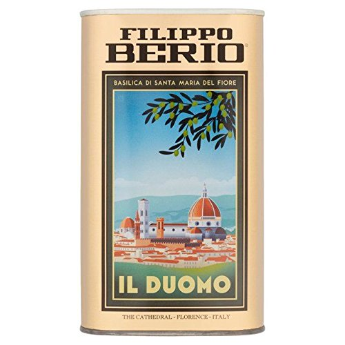 Filippo Berio Tin Extra Virgin Olive Oil - 1L (The Dome Of Florence Built By Brunelleschi)